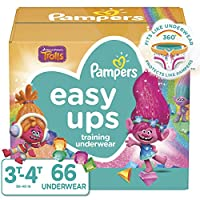 Pampers 易拉式一次性 TRAINING 尿布适用于女孩 Size 5, 30-40 lb (3T-4T), 66 Count 5 66