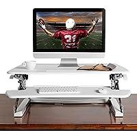 乐歌 Loctek 笔记本台式站立办公桌移动折叠升降电脑桌桌上站立工作台 M1M(白)(亚马逊自营商品, 由供应商配送)
