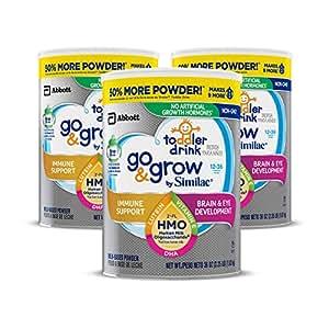 Similac 雅培 Go & Grow Non-GMO 幼儿奶粉,2'-FL HMO,粉末,36OZ/1.02kg,3罐
