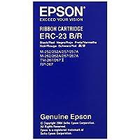 Epson 丝带尼龙红色 + 黑色,ERC-23RB