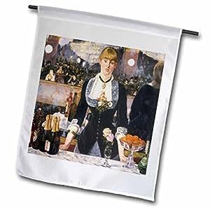BLN 印象派艺术收藏品–A Bar AT THE folies-bergere 来自 edouard 45.72cm–旗帜 12 x 18 inch Garden Flag