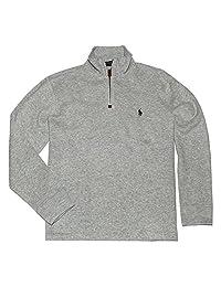 Polo Ralph Lauren 保罗拉夫劳伦 男士半拉链法式罗纹棉质毛衣