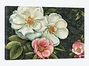 iCanvasART WAC763 Floral Damask I Canvas Print by Lisa Audit, 26 by 18-Inch, 0.75-Inch Deep
