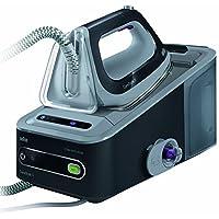 Braun 博朗 CareStyle 5 IS 5044 压力式蒸汽熨斗,2400W,6.5bar,蒸汽升压:360克/分钟,自动关机,集成纺织品保护,Eco-功能,黑/灰色
