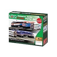 Kato USA Model Train Products N F40PH 和画廊双层通勤系列芝加哥元ra UNITRACK 入门套装