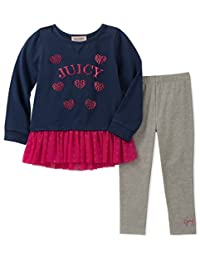 Juicy Couture 女童 2 件套束腰外衣打底裤套装