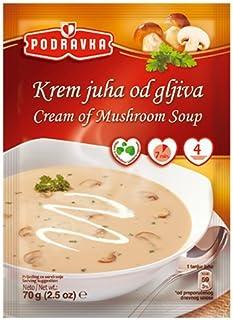 Podravka Cream Mushroom Soup Mix, 54 Gram (Pack of 18)