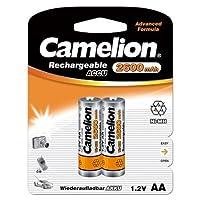 Camelion HR6 1.2 V 2600 mAh AA Mignon 镍金属氢化可充电电池(2 块装)