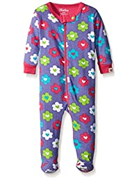 Hatley Baby Girls' Flower Hearts Footed Coverall