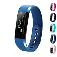 Fitness Tracker, LCStream Smart Watch Health Bracelet Activity Tracker with Step track, Calories track, Sleep monitor, pedometer for iOS and Android