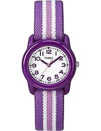 Timex Unisex-Children GirlsTW7C06100  Analog Elastic Fabric 紫色 TW7C061009J watches