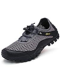 FeO DvKe 铁公爵 男士户外透气网布鞋 登山鞋 网鞋男 户外运动鞋 舒适橡胶软底 SDX45-1808F