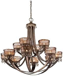 Minka Lavery 4999-271 La Bohem 12 灯吊灯无水晶,Monarch 铜色