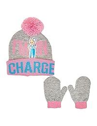 Toy Story Bo Peep 小女孩幼儿帽子和手套套装粉色/灰色