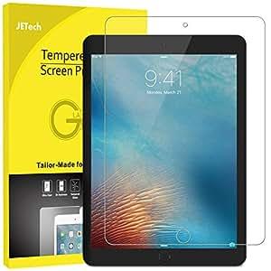 美国 JETech 苹果 iPad Mini 4 钢化膜 贴膜 iPad迷你4 玻璃膜 高清防划保护膜 带摄像孔切口 9H硬度 2.5D弧度圆边设计 适用于Apple iPad Mini 4