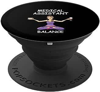 有趣的*助理平衡礼物 MA Gifts PopSockets 手机和平板电脑握架260027  黑色
