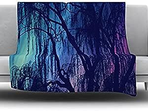 Kess InHouse Robin Dickinson Weeping 羊毛毯,127 x 152.4 厘米,紫色树