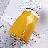 【不锈钢焖烧杯】470ml保温饭盒304不锈钢焖烧杯汤壶保温桶便当盒(送袋+餐具) (柠檬黄焖烧杯1个)
