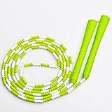 儿童跳绳花式运动珠节跳绳 中小学生儿童花样竹节跳绳子 (绿白色)