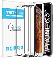 Tethys Iphone XS Max (6.5英寸)全包耐用钢化膜,3件装
