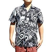RaanPahMuang 高级府绸棉质大胆印花夏威夷领海滩衬衫