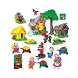 Little Folk Visuals 三只猪基本预裁法兰绒/毛毡板人物,20 件套