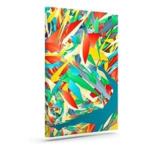 "Kess InHouse Danny Ivan""足球滑块""疯狂彩虹户外帆布墙壁艺术 20.32 厘米 x 25.4 厘米 20"" x 24"" DI1061AAC04"
