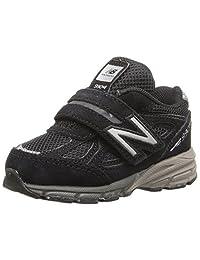 New Balance 儿童 KV990V4 跑步鞋 黑色 3 M US 婴儿