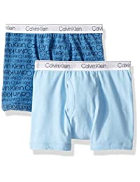 Calvin Klein Boys' Little Modern Cotton Assorted Boxer Briefs Underwear, Multipack
