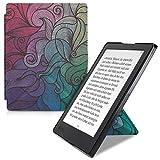 kwmobile Origami Kobo Aura H2O Edition 2 手机壳 - 超薄贴合高级 PU 皮套带支架 - 黑色43687.11_m001187 .Multicolor dark pink/blue/green