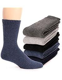 男式羊毛袜 毛绒柔软驾驶舱保暖加厚柔软保暖冬季袜 5 双