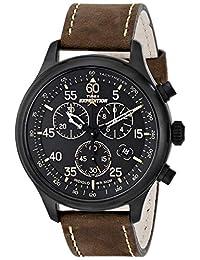 Timex 天美時 男士Expedition野外計時手表,褐色/黑色