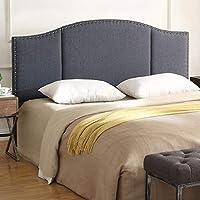 24KF 软垫簇绒大号床头板,带钉头饰边,软垫簇绒凳