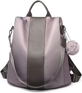 Kono 女式背包防盗帆布背包单肩背包书包
