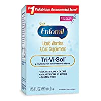 Enfamil Tri-Vi-Sol 婴儿维生素A、D & C 补充滴剂,50 毫升 3片装 5.01