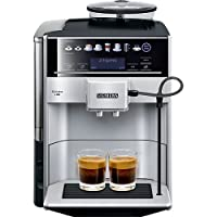 Siemens 西门子EQ.6 plus s300 TE653501DE 全自动咖啡机 (1500W, SensoFlow系统, aromaDouble Shot加倍香浓, 咖啡选择显示屏, 陶瓷研磨器, 15 bar,可储存2款个性化饮品设置)银色