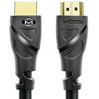 Mediabridge HDMI 线缆 - 高速,手工测试,HDMI 2.0 就绪 - UHD,18Gbps,音频回送通道,以太网91-02X-50B 50 Foot