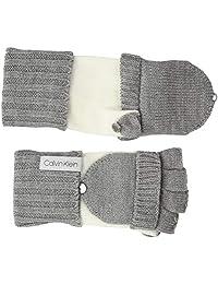 Calvin Klein 女士双色针织手套,