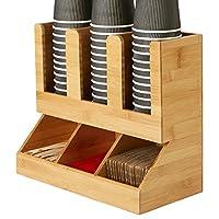 Mind Reader Flume' 6 隔层调味品和杯子收纳袋 Brown Bamboo UPBMB-BRN