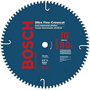 "Bosch CB1080 10"" 0 Degree Hook Angle Ultra Fine Crosscut Saw Blade, 无"