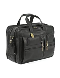 Claire Chase Executive Computer Briefcase, Black, One Size