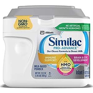 Similac 雅培 Pro-Advance Non-GMO婴儿配方奶粉(0-12个月),含2'-FL HMO,婴儿配方粉 658g