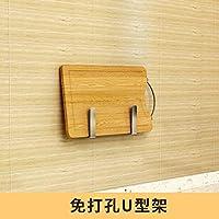 烘焙精灵304不锈钢免打孔厨房置物架调料架壁挂碗碟架收纳架省空间免打孔U型架