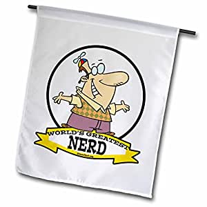 dooni Designs worlds greatest 漫画–趣味 worlds greatest nerd II 卡通–旗帜 12 x 18 inch Garden Flag
