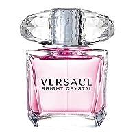 [Versace] Bright Crystal Gift Set - 90 ml EDT 喷雾 + 100 ml Body Lotion + Leather Key Chain (亚马逊海外卖家)