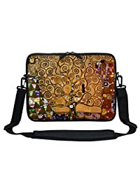 Meffort Inc 11.6 Inch Neoprene Laptop Sleeve Bag Carrying Case with Hidden Handle and Adjustable Shoulder Strap Klimt Tree of Life