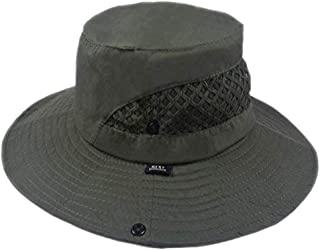 SUNLAND 男式宽边可折叠遮阳帽夏季帽子渔夫帽完美适合钓鱼园艺徒步露营户外