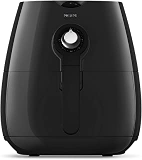Philips HD9218/51 Essential Air Fryer with Rapid Air Technology for Healthy Cooking, 90 Percent Less Oil, 800 g Capacity, 30 Minutes Timer Up to 200 Degree Celsius Temperature Control, 1425 W, Black