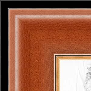 ArtToFrames 40.64 x 45.72 cm / 40.64 x 45.72 cm 相框蜂蜜色带黑色和金色 .5.08 cm 宽 (2WOMZ220)
