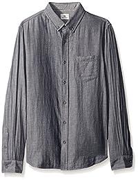 AG Adriano Goldschmied 男式灰色长袖衬衫